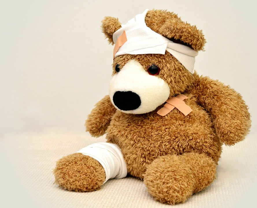 Injured teddy
